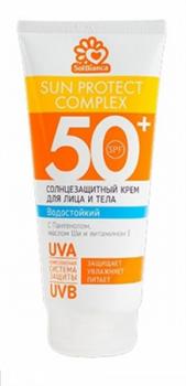 Крем солнцезащитный (50+ SPF), водостойкий «Solbianca» для лица и тела 200 мл - фото 4115